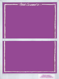 2 Up or Deckle Divider Template