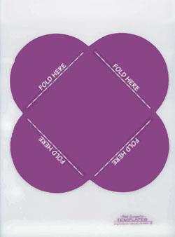 4-Petal Fold Envelope Large Template