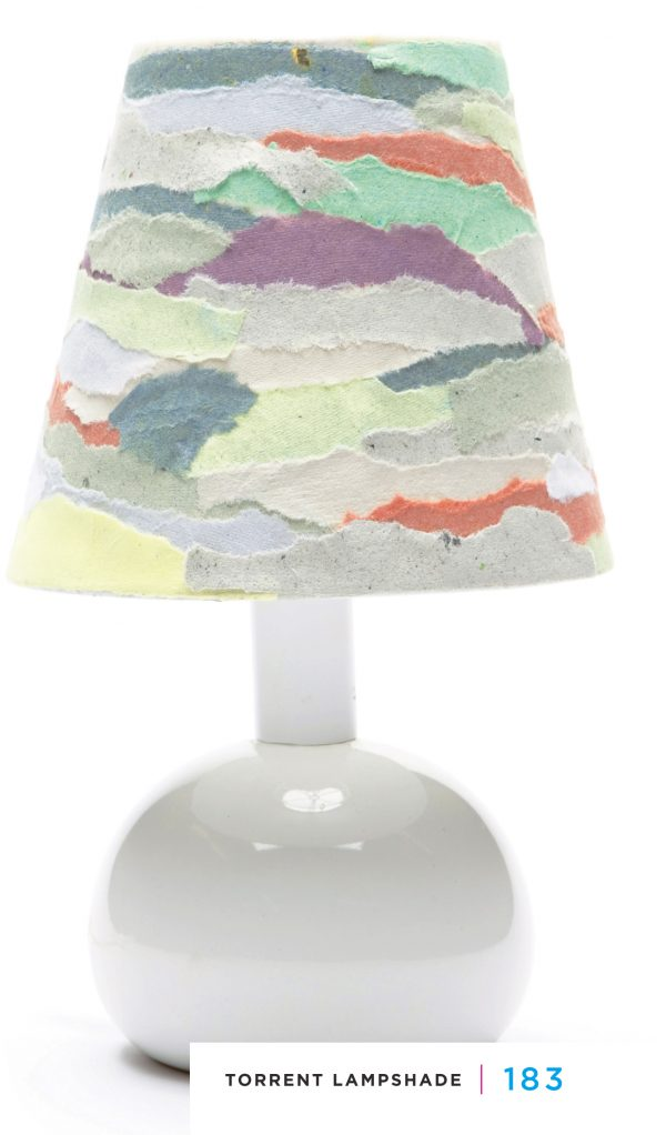 Trash To Treasure 'Torrent Lampshade' Project used with permission Storey Publ