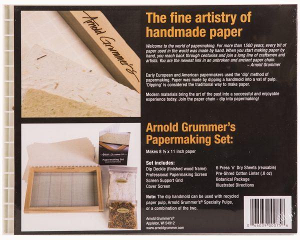 75 Arnold grummer's Papermaking Set back