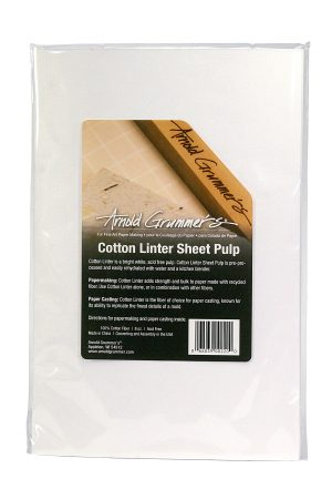 Cotton linter for papermaking and paper casting