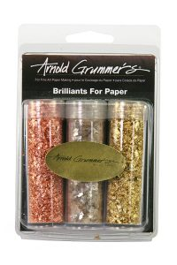 Brilliants for Paper with tubes of Gold Copper and Mica Flakes for paper, clay and polymer clay projects