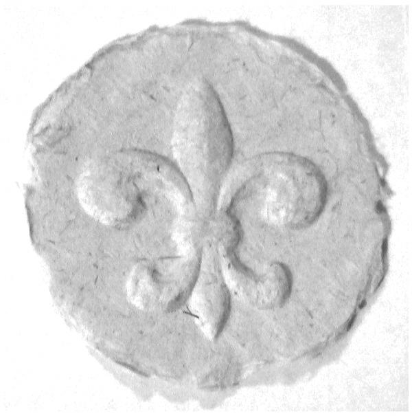 Fleur de Lis paper cast