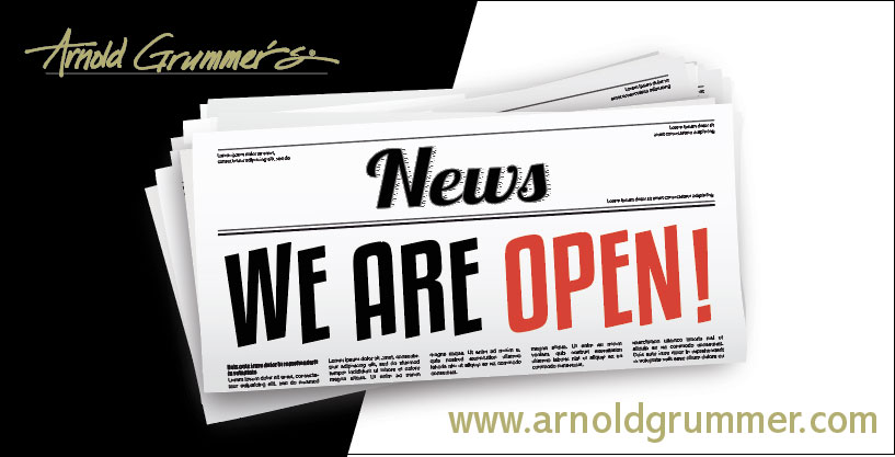 Arnold Grummer's Is Open for Business